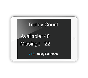Asset control. Trolley count. Security solution for retail